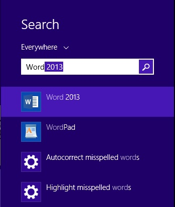Invoking Word 2013 on Windows 8.1
